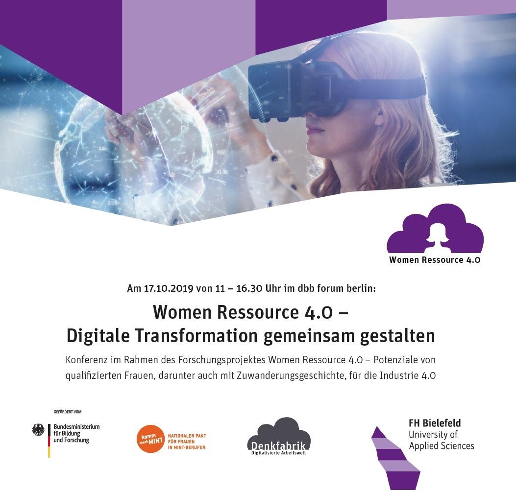 Abschlusskonferenz im Projekt Women Ressource 4.0